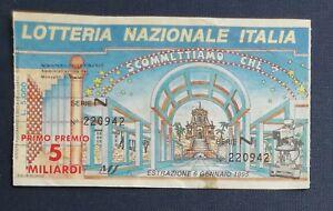 1995 BIGLIETTO LOTTERIA NAZIONALE  ITALIA SCOMMETTIAMO CHE ?