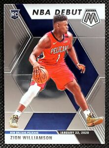 ZION-WILLIAMSON-2020-Panini-Mosaic-NBA-Debut-RC-Rookie-New-Orleans-Pelicans-269