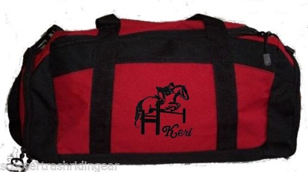 Jumper Jumping Horse  Duffle Gym Sport Bag - MORE COLORS -  personalized NEW   sale online