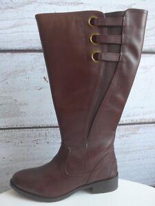 Details zu Sheego Weitschaftstiefel Stiefel Leder XL Gr. 38 bis 43 Braun NEU (122)