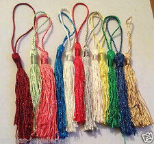 10 x Silky TASSELS - 13cm Craft Jewellery Making Cothes Keyring Earring Necklace