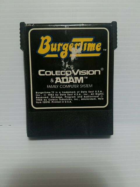 COLECOVISION Coleco BURGERTIME Game only Very Good Condition