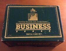 Axlon Business Trivia Card Set from 1984