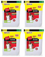 28 Hanes Mens White A-shirt Tank Wife Beater Value Pack Size S-xl Best Seller