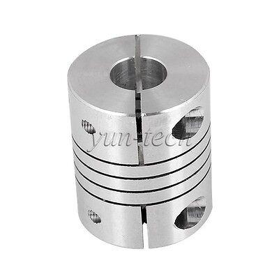 "6.35mm(1/4"") x 10mm CNC Motor Shaft Coupler Flexible Coupling Motor Connector"