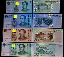 CHINA SET 4 UNC 1 10 20 50 YUAN 2019 P NEW MAO NEW HYBRID SECURITY THREAD UNC