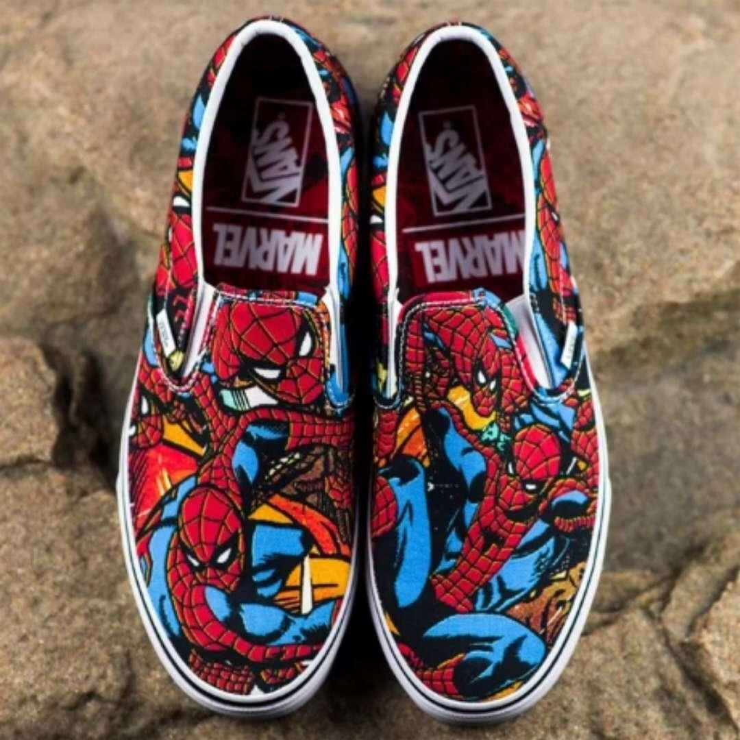 Nuevo Vans Marvel Avengers Spiderman Clásico Slip X En Zapatillas Sin Cordones Hombre Araña