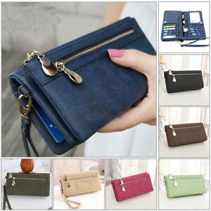 Women-Lady-Clutch-Leather-Wallet-Long-Card-Holder-Phone-Bag-Case-Purse-Handbag-L