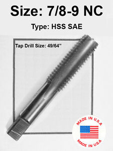 2-64 NF #2 x 64 TPI Tap HSS Greenfield Morse Butterfield others sae std