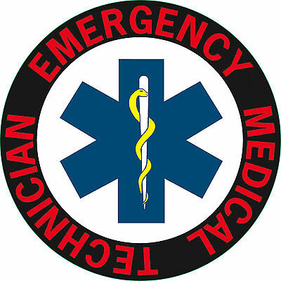 Emergency Medical Technician. CIRCULAR CAR WINDOW STICKER  75mm