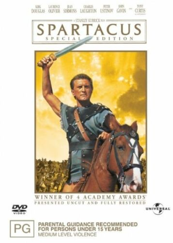 1 of 1 - Spartacus (DVD, 2-Disc Set) Kirk Douglas - Region 4 - Very Good Condition