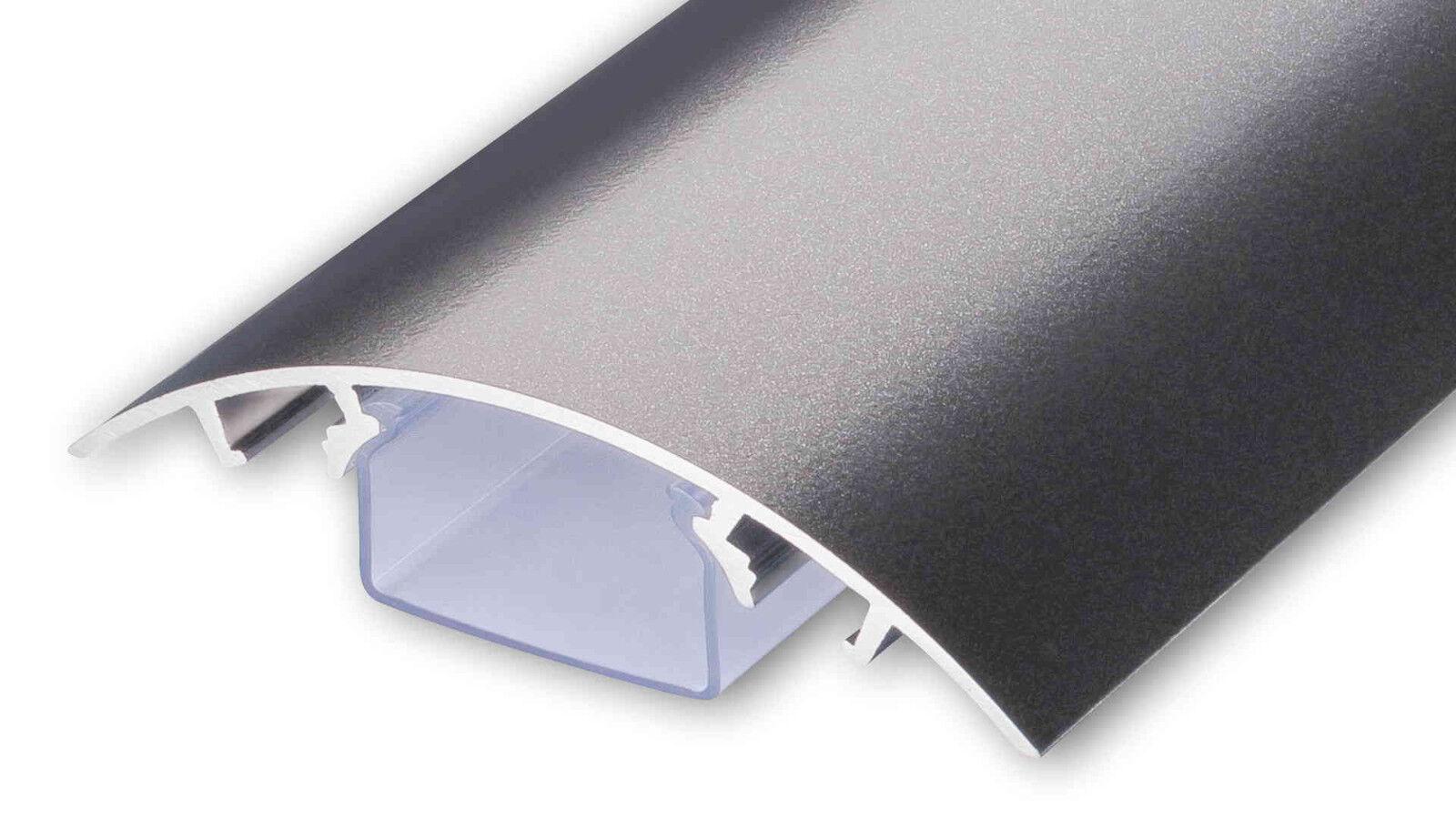 Aluminium Aluminium Aluminium Design TV Kabelschacht Titanium anthrazit seidenmatt Kabelleiste | Verschiedene  c50b23