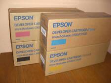 4 x Original EPSON Tóner Aculaser C900 C1900 / S050100 S050099 S050098 S050097