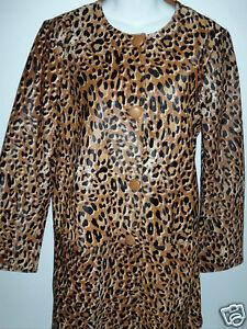 NWT-Kate-Spade-Madison-Ave-Leopard-Evi-Coat-Sz-12-NEW-Rare-Haircalf-Leather