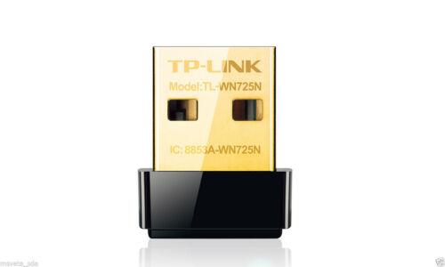 TP-Link TL-WN725N 150Mbps WiFi Wireless N Nano Micro USB Adapter Dongle B//G//N