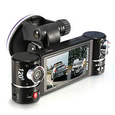 Quality Dual Lens Camera Vehicle Car DVR Dash Cam Two Lens Video Recorder F600