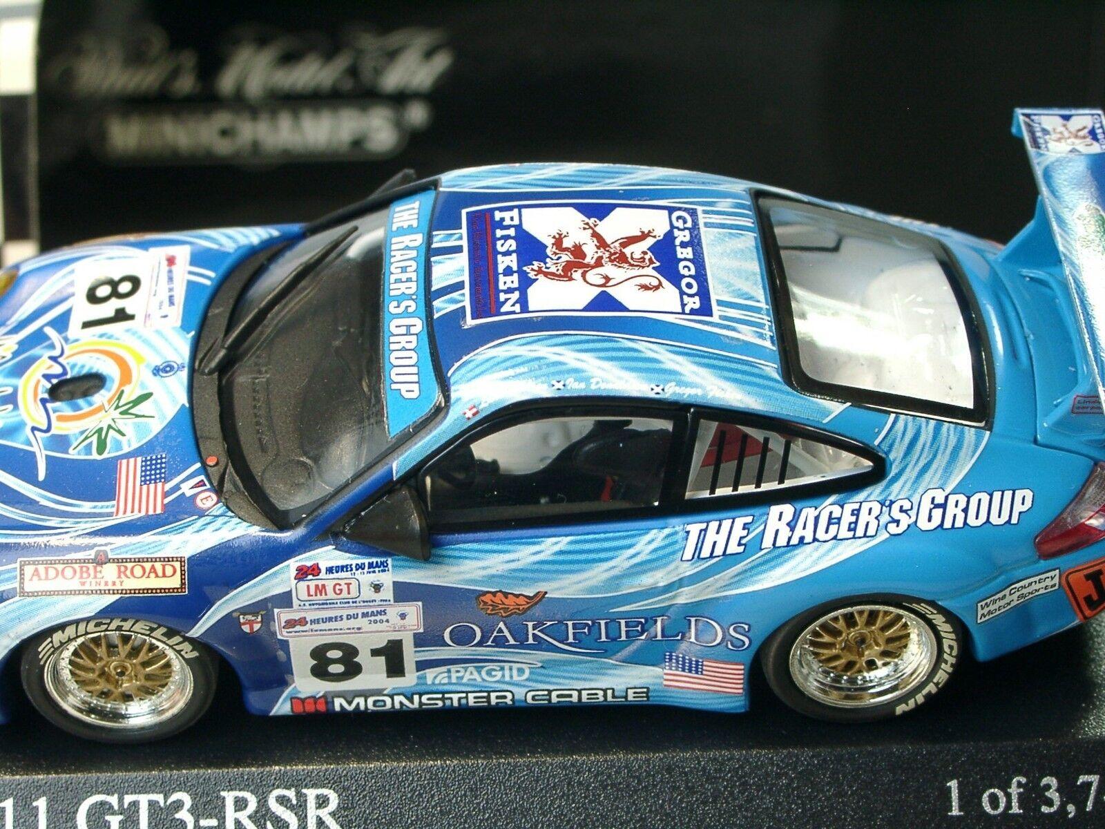 Minichamps Porsche 911 gt3 rsr Racer's group,  81, LM 2004, 400 046981 - 1 43