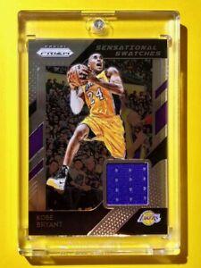 Kobe-Bryant-PANINI-PRIZM-SENSATIONAL-SWATCHES-GAME-WORN-LAKERS-JERSEY-Mint