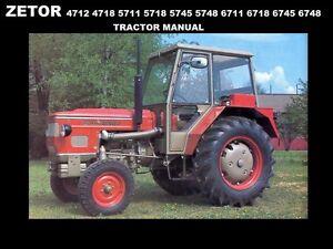 zetor 4712 4718 5711 5718 5745 5748 6711 tractor manual for service rh ebay com Zetor Tractors Logo Who Makes Zetor Tractors