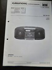 Original Service Manual  Grundig  RR 700 CD