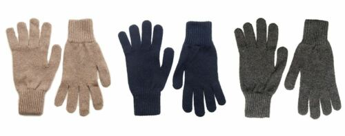 Grey Recycled cashmere gloves Made in Scotland Navy or Natural