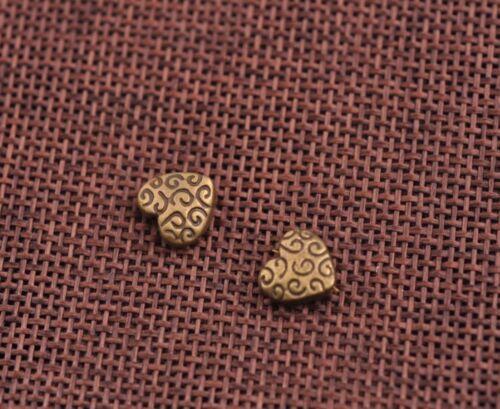 FREE SHIP 10Pcs Tibetan Silver Bronze Heart Pendant Jewelry Finding 9MM A20