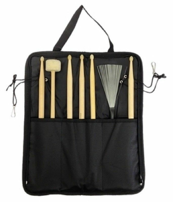 Details About Drum Stick Bag Percussion For Brushes Rods Mallets Sticks