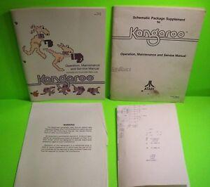 KANGAROO-Video-Arcade-Game-Service-Manual-Schematic-Book-Original-1982-ATARI