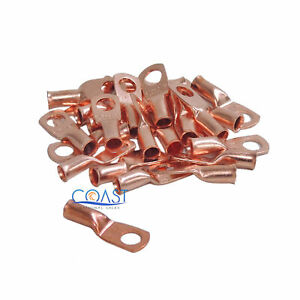 Car-Audio-8-Gauge-AWG-1-4-034-Copper-Wire-Ring-Terminal-Connector-CUR814-25-pcs
