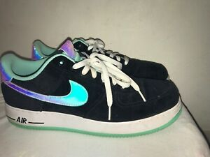 Nike Air Force 1 Low Suede Black White Athletic Shoes 488298
