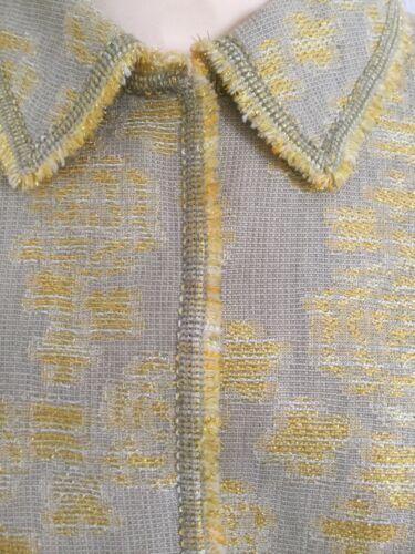 Jupe pièces Rena taille 2 Lange créateur en 20 naturel lurex de veste doré Suit Uk T5HqIrH