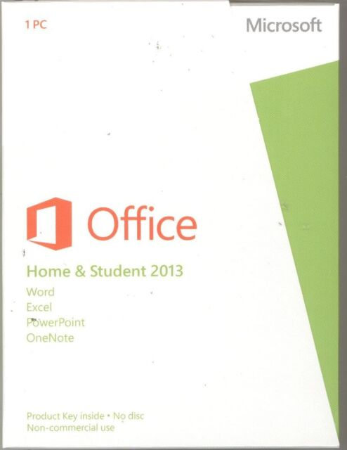 Microsoft Office 2013 Home and Student Product Key Card 1PC Retail 79G-03550 NEW