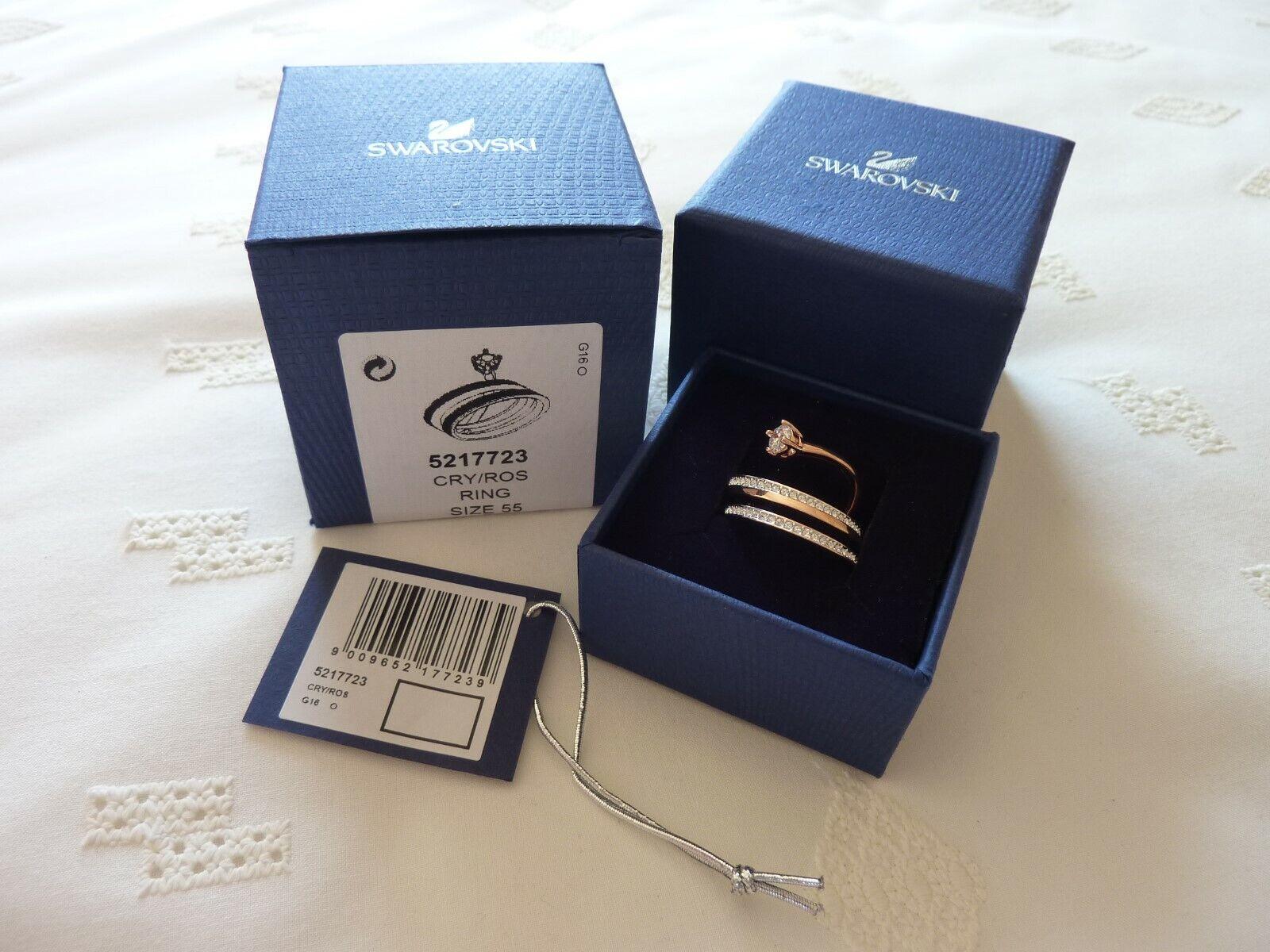 Swarovski  Fresh pink gold Plated Ring Size 55 BNWT 5217723