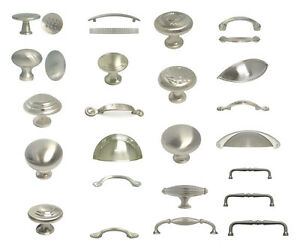 Brushed Satin Nickel Cabinet Hardware Pulls Knobs Handles Kitchen Hardware
