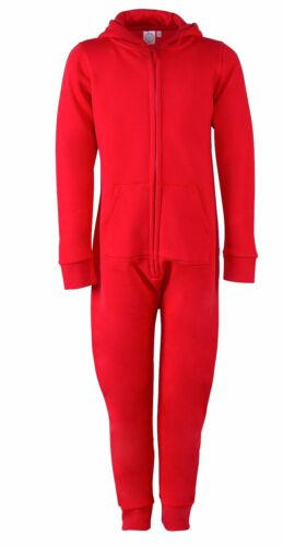 RED Jumpsuit SF Mini Kids Childrens Boys Girls All in One Luxury Hooded Cosy
