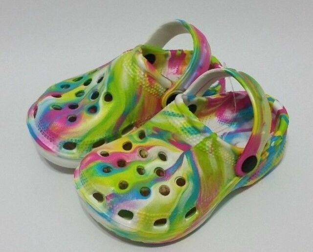 Kids Boys & Girls Slip-On Color Clogs Garden,Beach,Pool Shoes.