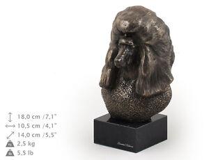 Poodle, dog bust marble statue, ArtDog , CA