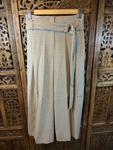 BNWT NEXT Tailoring Ladies Neutral Beige Tapered Taper Trousers RRP £38