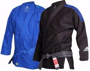 Adidas-BJJ-Gi-Adult-Kids-250g-Brazilian-JiuJitsu-Black-Blue-M0-M1-M2-M3-A1-A2-A3