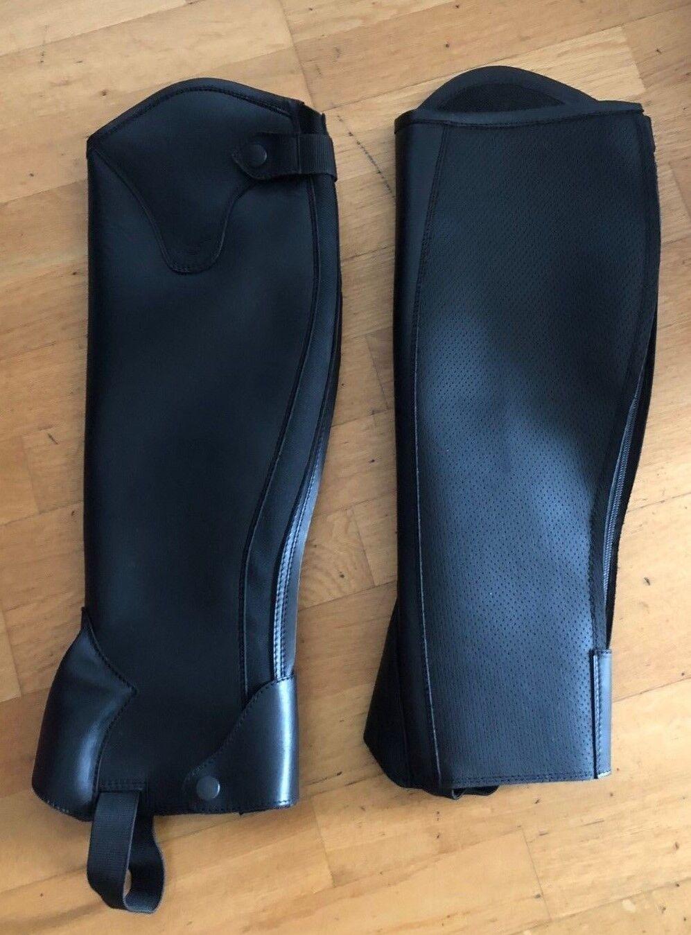 Leder-Chaps Mini-Chaps Lamicell extra grip grip grip 50 40 schwarz 207e9c