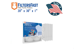 1-034-Home-Air-Filters-Merv-11-Case-of-6-Filters-20x30x1
