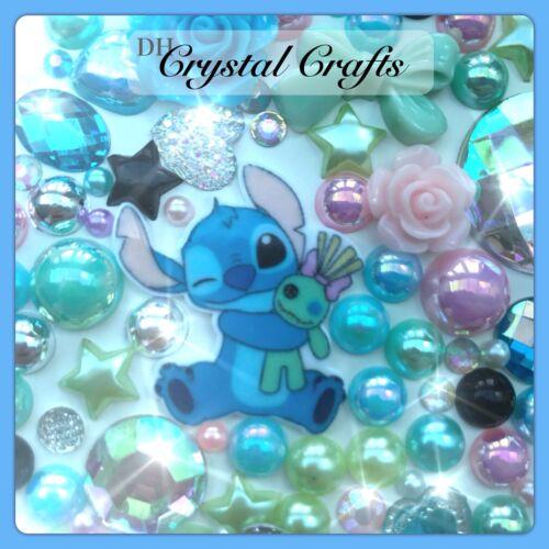 Disney Lilo and Stitch tema Cabujón Gemas Y Perlas Flatbacks para Manualidades Deco #1