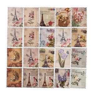 20pcs-mix-retro-Stamp-pattern-wooden-ButtonScrapbooking-diy-Handmade-Crafts-PN