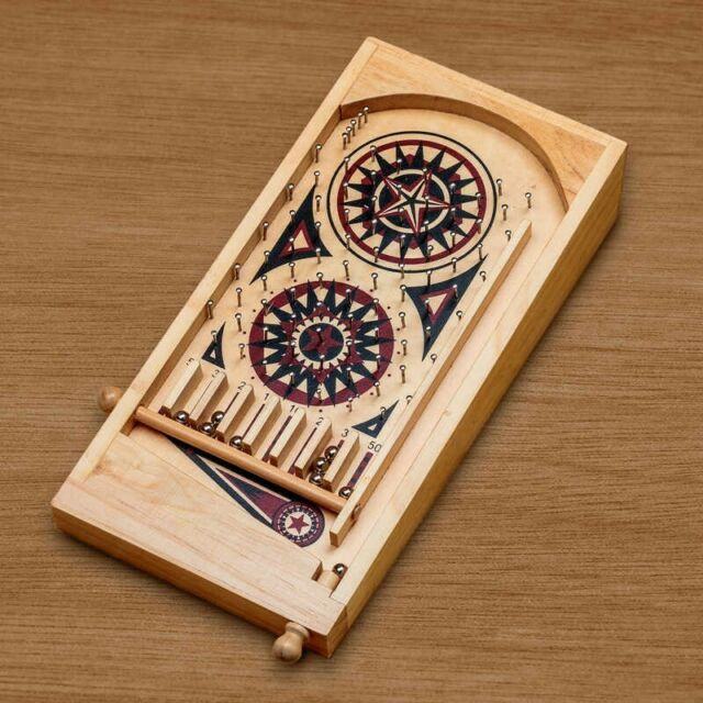 Tobar 13092 Deluxe Wooden Pinball Game with Metal Balls