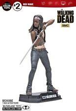 "Walking Dead Serie TV COLORE TOP ROSSO Michonne 7"" Action Figure McFARLANE"