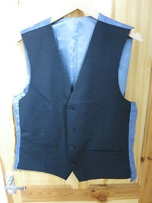 Fedele Da Uomo Red Herring Navy Gilet A Righe Pin-medium-