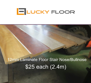 12mm Laminate Floor Stair Nose Stairnose Bullnose Bullnosing Flooring Boards Ebay