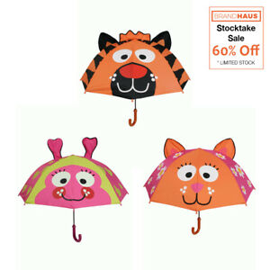 Bright-Bots-Animal-Umbrella-Orange-Tiger-Lime-Ladybird-Pink-Cat