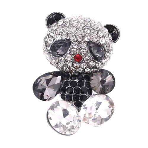 LeahWard Women/'s Diamante Rhinestone Panda Brooches Scarf Pin