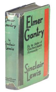 Sinclair-Lewis-Elmer-Gantry-FIRST-EDITION-IN-SCARCE-JACKET